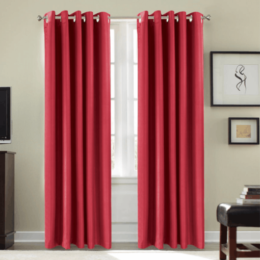 Cortina para aislamiento acústico 21db color Rojo